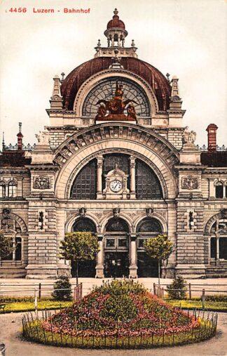 Ansichtkaart Zwitserland Luzern Bahnhof Switzerland Schweiz Suisse Spoorwegen Europa HC15232