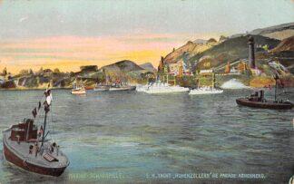 Ansichtkaart Duitsland Marine Schauspiele S.M. Yacht Hohenzollern die Parade abnehmend Scheepvaart Deutschland Europa HC15235