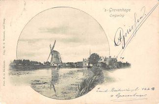 Ansichtkaart Gouda Reeuwijk Molen bij de Driewegsluis Breevaart richting Burgvlietkade 1901 HC15267