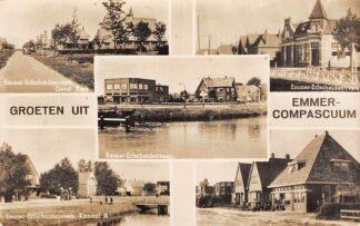 Ansichtkaart Emmer-Compascuum Emmer-Erfscheiderveen Gereformeerde Kerk Kanaal A Emmen Fotokaart HC15270