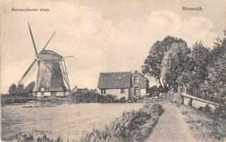 Ansichtkaart Gouda Reeuwijk Reeuwijkschesluis met molen vanaf de Breevaart richting Burgvlietkade HC15278