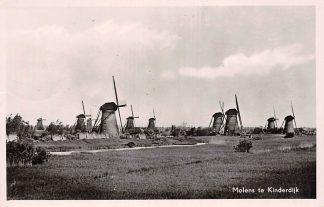 Ansichtkaart Nieuw Lekkerkand Molens te Kinderdijk 1954 HC15323