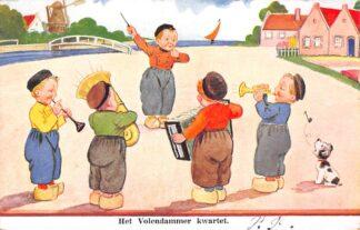 Ansichtkaart Volendam Het Volendammer kwartet Klederdracht Fantasie HC15341