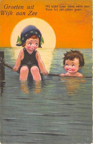 Ansichtkaart Wijk aan Zee Groeten uit 1929 HC15370