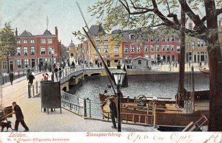Ansichtkaart Leiden Blauwpoortsbrug 1905 Hondenkar HC15476
