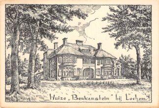 Ansichtkaart Lochem Huize Beukenstein Illustrator H. Holterman HC15499