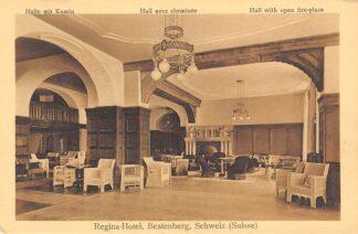 Ansichtkaart Zwitserland Beatenberg Regina Hotel Halle mit Kamin Schweiz Helvetia Switzerland Suisse Europa HC15513