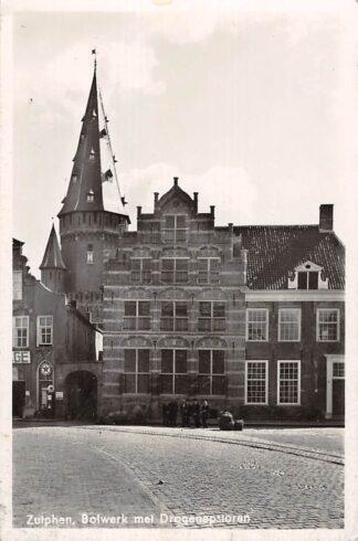 Ansichtkaart Zutphen Bolwerk met Drogenapstoren 1952 HC15532