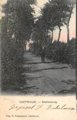 Ansichtkaart Castricum Stationsweg 1906 HC15540
