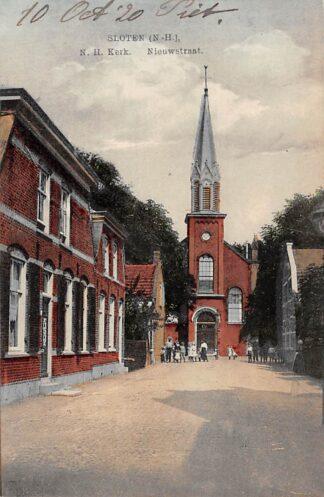 Ansichtkaart Sloten (NH) N.H. Kerk Nieuwstraat 1920 Amsterdam HC15547
