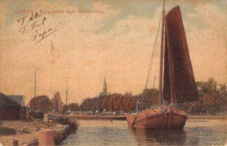 Ansichtkaart Alphen aan den Rijn Rijngezicht naar Oudshoorn met binnenvaart schepen Scheepvaart HC15561