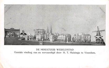 Ansichtkaart Veendam De Miniatuur Wereldstad Geniale vinding van en vervaardigd door H.T. Huizinga te Veendam HC15578