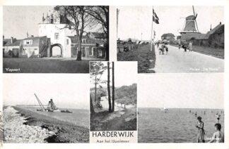 Ansichtkaart Harderwijk aan het IJsselmeer Werkhaven Vispoort Molen De Hoop HC15620