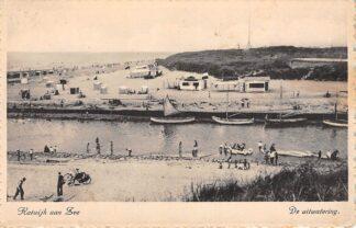 Ansichtkaart Katwijk aan Zee De uitwatering 1946 HC15629