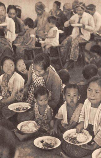 Ansichtkaart Nederlands-Indie Djojakarta Java Gaarkeuken-uitdeeling Indonesie Indonesia Azie HC15644