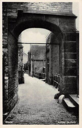 Ansichtkaart Gouda Achter de Kerk HC15648
