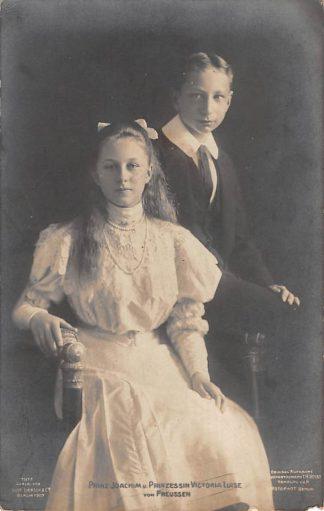 Ansichtkaart Duitsland Prinz Joachim u. Prinzessin Victoria Luise von Preussen 1907 Koninklijk Huis Deutschland Europa HC15654