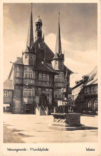Ansichtkaart Duitsland Wernigerode Marktplatz Deutschland Europa HC15673