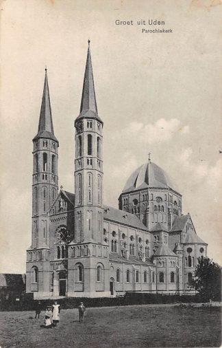 Ansichtkaart Uden Groet uit 1911 Parochie kerk HC15677