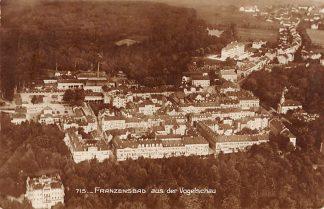 Ansichtkaart Tsjechie Franzensbad aus der Vogelschau Cesko Frantiskovy Lazne Czech Republic Luchtfoto Fotokaart 1925 Europa HC15695