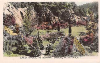 Ansichtkaart Canada Brentwood Bay Sunken Garden The Butchart Gardens Nr. Vicoria B.C. Noord-Amerika HC15698