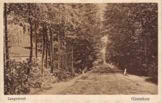 Ansichtkaart Ginneken bij Breda Langedreef 1929 HC15711