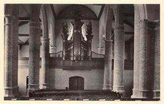 Ansichtkaart Waalwijk Ned. Hervormde Kerk Interieur met Orgel 1947 HC15726