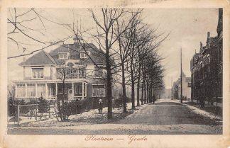 Ansichtkaart Gouda Van Beverninglaan Van Bergen IJzendoorn Park Villa Honk in de winter HC15827