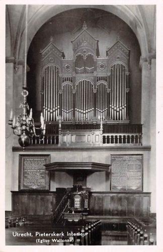 Ansichtkaart Utrecht Pietersker  Interieur Eglise Wallone Orgel HC15851