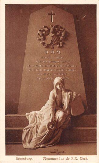 Ansichtkaart Driebergen Rijsenburg Monument in de R.K. Kerk 1935 HC15858