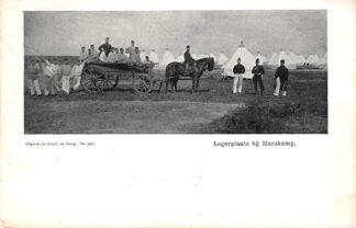 Ansichtkaart Legerplaats bij Harskamp Militair Soldaten paard en wagen 1907 HC15960