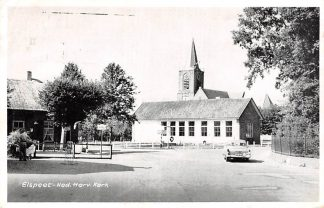 Ansichtkaart Elspeet Ned. Hervormde Kerk Auto HC15961