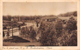 Ansichtkaart Elspeet Van de eetzaal naar A en B Broederschapshuis 1934 HC15964