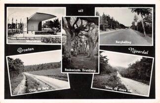 Ansichtkaart Nijverdal Muziektent Over de Berg Berghelling Beukenlaan Eversberg Naar de diepe hel 1956 HC15994