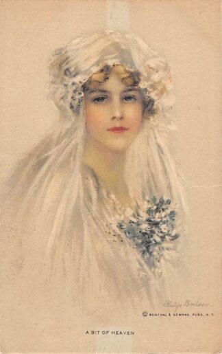 Ansichtkaart Fantasie A Bit of heaven Bruid Illustrator Philip Boilaeu 1921 HC16066