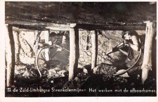 Ansichtkaart Kerkrade In de Zuid-Limburgse Steenkolenmijnen Werken met de afboorhamer HC16086
