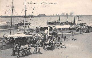 Ansichtkaart Belgie Antwerpen Anvers L'Embarcadere 1909 Scheepvaart Schepen Sleepboot Europa HC16094