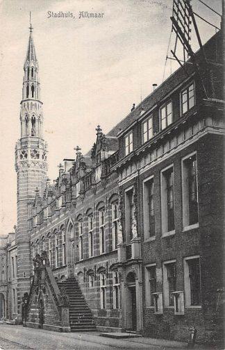 Ansichtkaart Alkmaar Stadhuis 1906 HC16100
