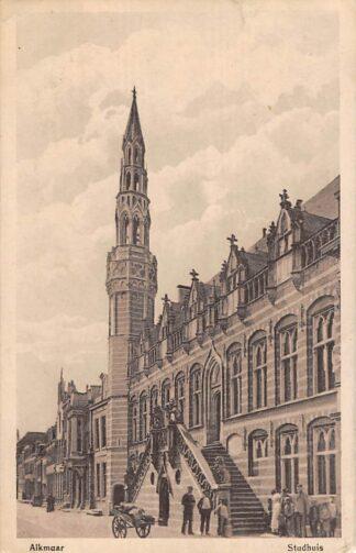 Ansichtkaart Alkmaar Stadhuis 1918 HC16101
