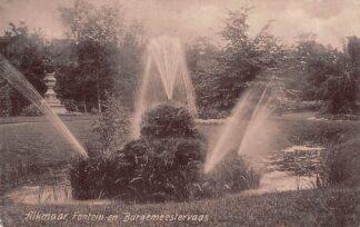 Ansichtkaart Alkmaar Fontein en Burgemeestersvaas 1908 HC16109