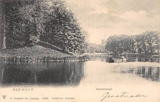 Ansichtkaart Alkmaar Geestersingel Molen 1906 HC16111