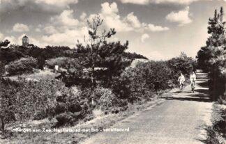 Ansichtkaart Bergen (NH) aan Zee Het fietspad met Bio-vacantioord 1960 HC16120