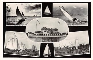 Ansichtkaart Sint Annaparochie Rondvaart Toeristenbedrijf Princehof Binnenvaart schepen Scheepvaart 1956 HC16124