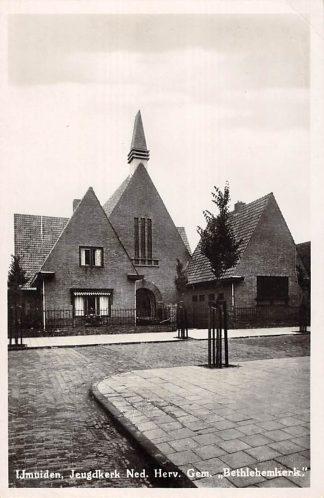 Ansichtkaart IJmuiden Jeugd kerk der Ned. Hervormde Gemeente 1946 HC16140