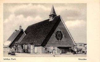 Ansichtkaart IJmuiden Ichtus Gereformeerde Kerk HC16150