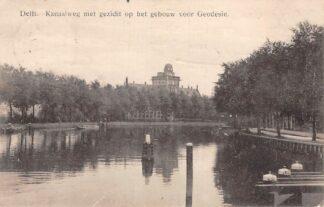 Ansichtkaart Delft Kanaalweg met gezicht op het gebouw voor Geodesie 1914 HC16167