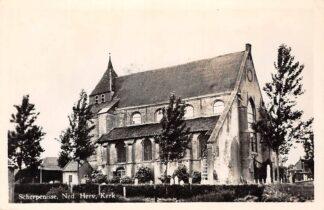 Ansichtkaart Scherpenisse Ned. Hervormde Kerk met begraafplaats 1956 HC16177
