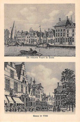 Ansichtkaart Goes De nieuwe Poort te Goes Goes in 1700 HC16211