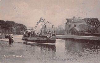 Ansichtkaart Nieuwersluis aan de Vecht Stoomschip Waldeck Pyrmont Binnenvaart schepen Scheepvaart 1906 HC16217