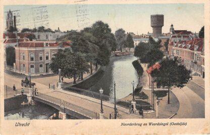 Ansichtkaart Utrecht Noorderbrug en Weerdsingel Oostzijde Watertoren 1924 HC16240